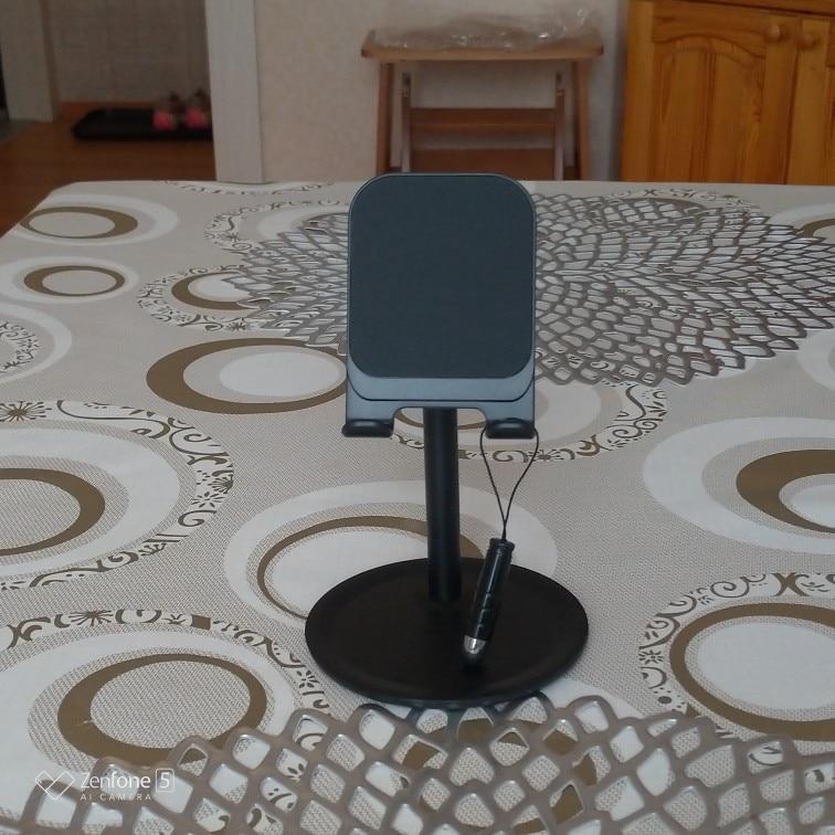 phone and tablet holder desk setup