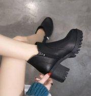 Chunky heel Martin boots
