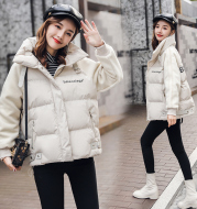 Cotton Clothes/Cotton Clothes Winter 2018 Hat Zipper Short Warm and Comfortable Close-fitting Collar