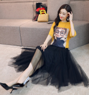 Fashion thin leisure fashion temperament pure color summer suit/skirt five-sleeve 2020